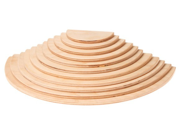 Grimm's Large Natural Semicircles, 11 pieces