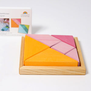 Grimm's Tangram Pink-Orange