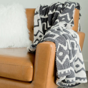 Saranoni Mudcloth Double-Layer Bamboni Home Throw Blanket