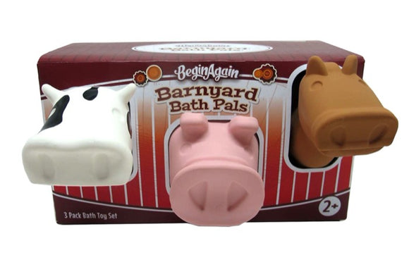 Begin Again Toys Barnyard Bath Pals 3 piece Set