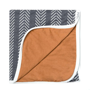 Copper Pearl Three Layer Stretchy Quilt Blanket - Canyon