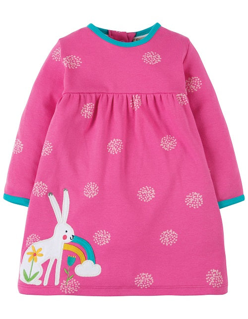 Frugi - Dolcie Dress Flamingo Snowball/Hare (AW18)