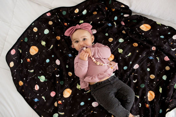 loulou LOLLIPOP - Muslin Swaddle Planets