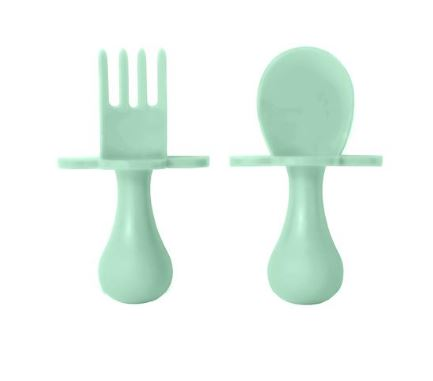 Grabease Feeding Utensil Set Mint