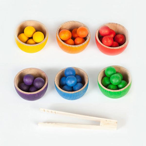 Grapat Bowls and Marbles Rainbow Sorting Game