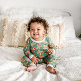 Little Sleepies Green Gingerbread Two-Piece Bamboo Viscose Pajama Set