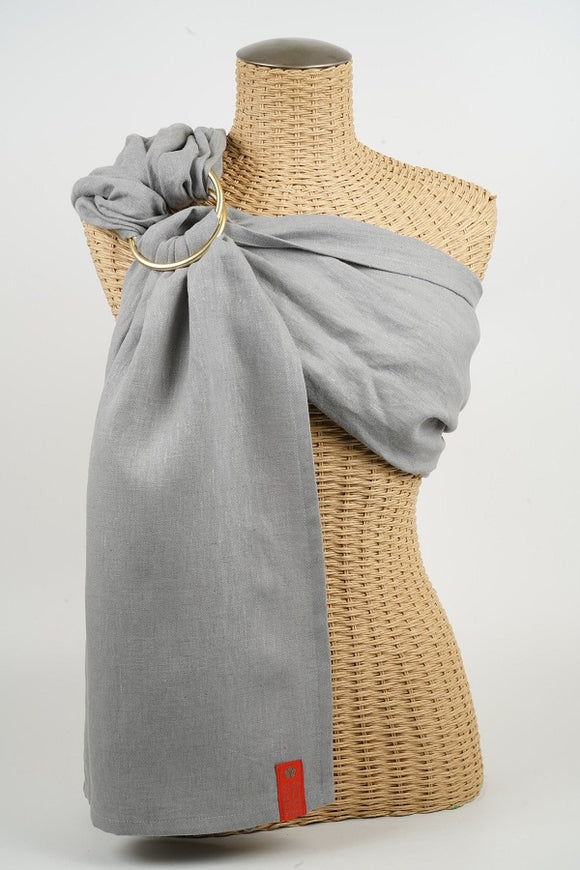 Sakura Bloom - Basic Linen Ring Sling - Greystone