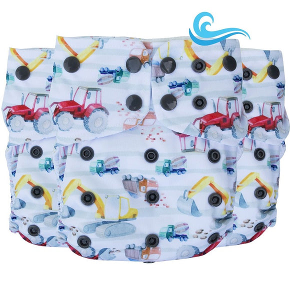 Lighthouse Kids Co SUPREME Swim/Cover Diaper *DD Exclusive* - Digger