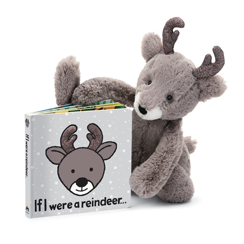JellyCat Bashful Glitz Reindeer Medium