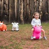 Farm Hoppers Inflatable Jumping Animal Bouncer White Cow