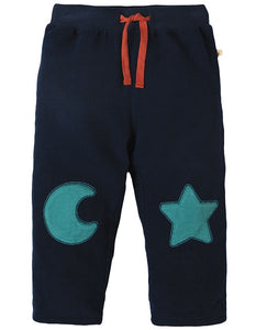 Frugi - Little Cord Patch Trouser Navy/Moon & Star (AW18)