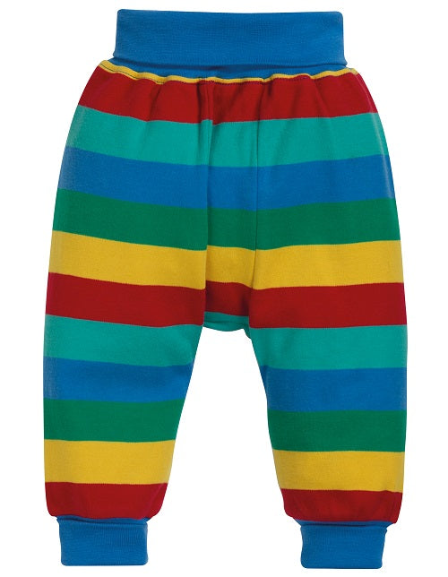 Frugi Kneepatch Parsnip Pants Rainbow Stripe (AW19)
