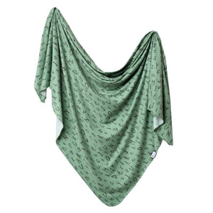 Copper Pearl Knit Swaddle Blanket - Poe