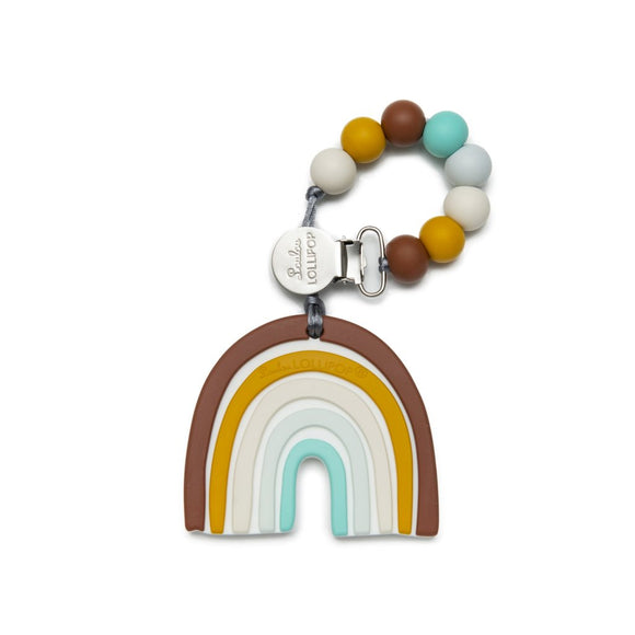 loulou LOLLIPOP - Neutral Rainbow Silicone Teether Set