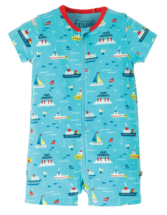Frugi - Reed Romper in Sail The Seas (SS20)