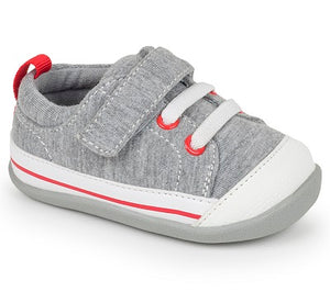 See Kai Run - Gray Canvas Shoe Stevie II