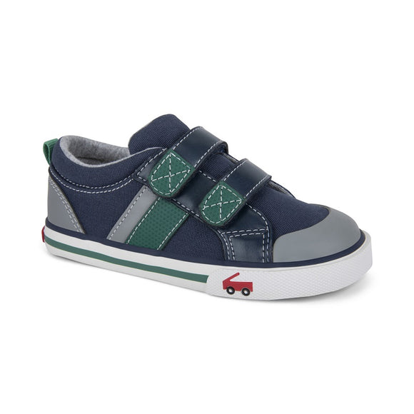 See Kai Run - Navy Green Russell Shoe