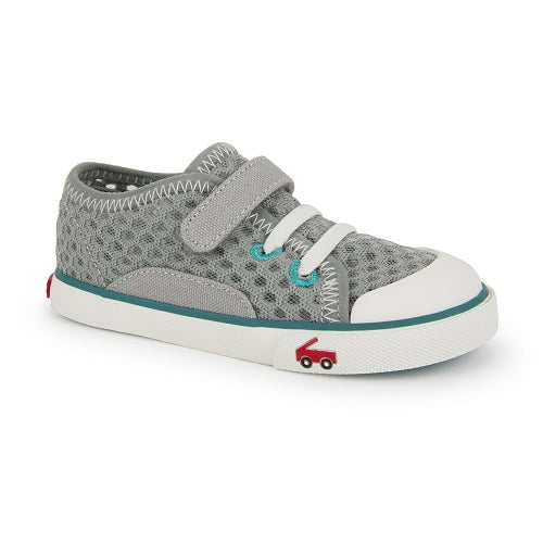 See Kai Run - Water Friendly Mesh Saylor Gray Teal Sneaker
