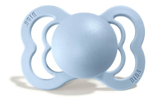 BIBS Pacifier Supreme Silicone 1 pack in Baby Blue