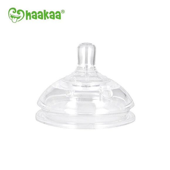 Haakaa - Gen 3 Silicone Bottle Anti-Colic Nipple 2pk (medium 3-6 months)