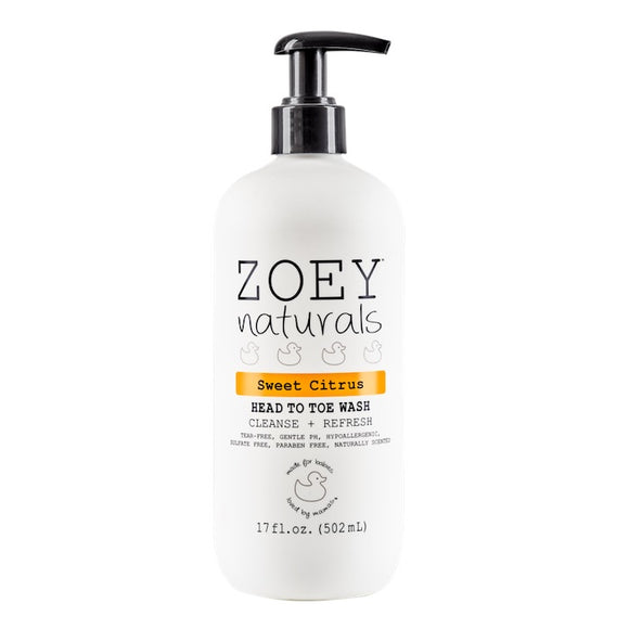 Zoey Naturals Sweet Citrus Head to Toe Wash