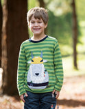 Frugi - Discovery Applique Top Meadow/Goat (AW18)