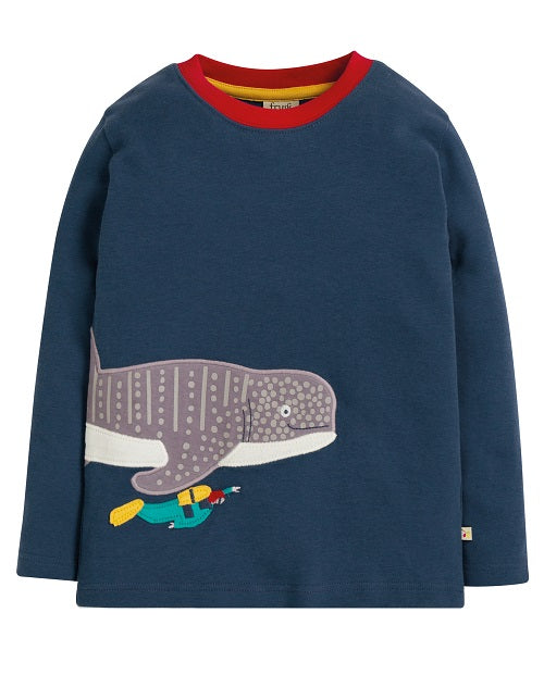 Frugi - Joe Applique Top Space Blue/Whale Shark (AW19)