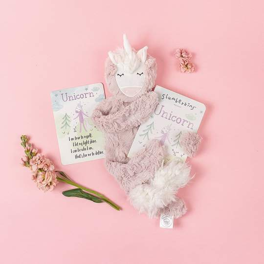 Slumberkins Rose Unicorn Snuggler Bundle