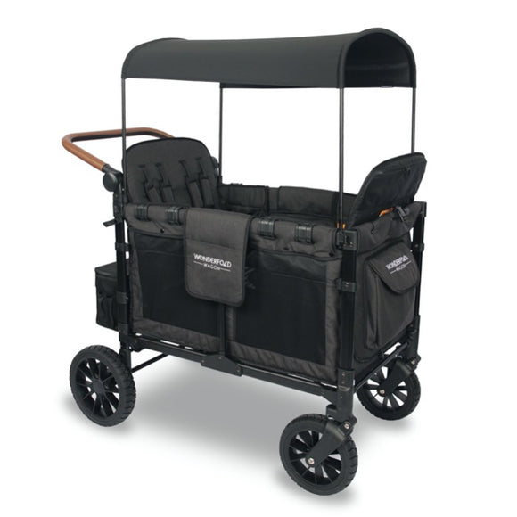 WonderFold W4S 2.0 Multifunctional Stroller Wagon (4 Seater) - Charcoal Black