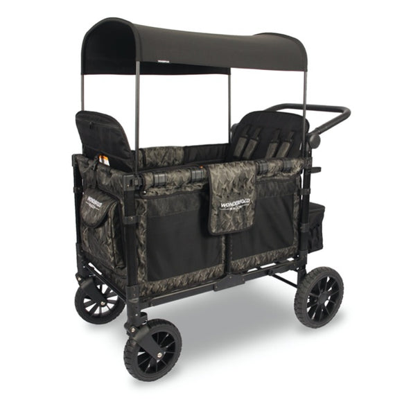 WonderFold W4S 2.0 Multifunctional Stroller Wagon (4 Seater) - Shadow Green Camo