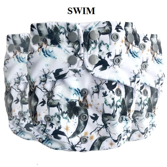 Lighthouse SUPREME Swim Diaper Cover *DD Exclusive* - Winter is Coming