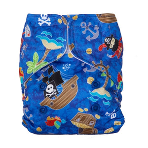 Lalabye Baby - Dearest Diapers Exclusive A Pirate's Life For Me Newborn Diaper