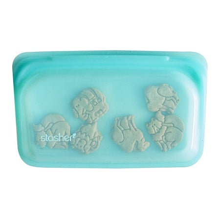 Stasher - Reusable Silicone Snack Bag - Aqua