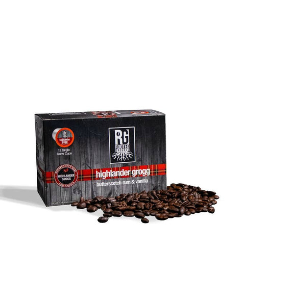 Rooted Grounds Coffee Co. K-Cup 12 pods Highlander Grogg