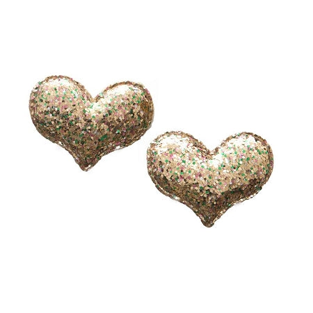 Baby Bling Heart Clip 2-pack