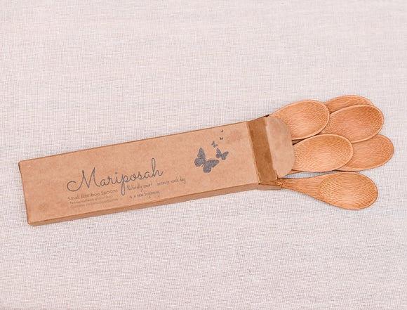 Mariposah Small Bamboo Spoons 6-pack