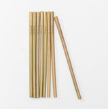 Mariposah Bamboo reusable Straws 8-pack