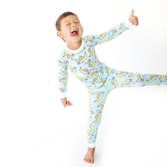 Little Sleepies Bananas Two-Piece Bamboo Viscose Pajama Set