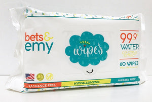 Bets & Emy Baby Wipes 60 count