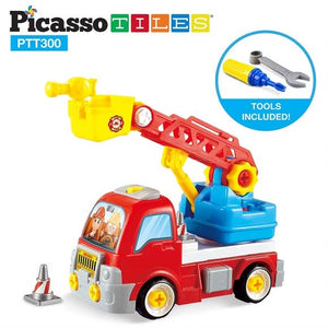Picasso Tiles Educational Constructible Fire Truck
