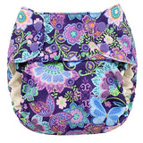 Blueberry One Size Deluxe Pocket Diaper w/Organic Cotton Inserts