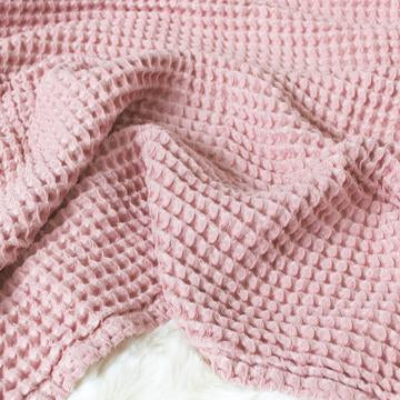 The Sugar House Cloud Blanket in Blush Pink