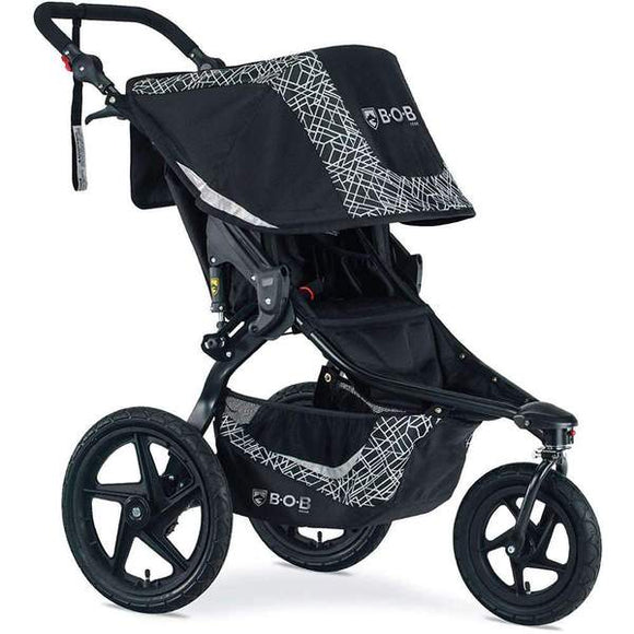 BOB Revolution Flex 3.0 Single Stroller in Lunar Black