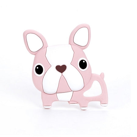 loulou LOLLIPOP - Pink Boston Terrier Teether