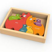 Begin Again Toys Cat Family Puzzle w/ bilingual curriculum