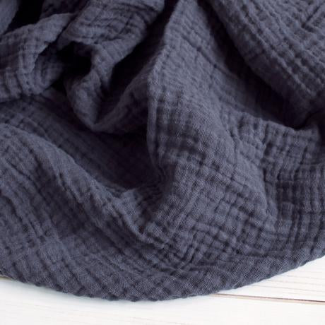 The Sugar House Classic Muslin Swaddle in Charcoal
