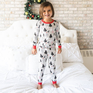 Little Sleepies Christmas Trees Two-Piece Bamboo Viscose Pajama Set