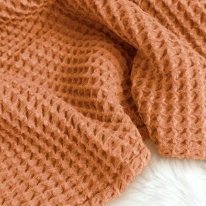 The Sugar House Cloud Blanket in Copper