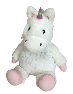 "Warmies Cozy Plush 13"" White Unicorn"