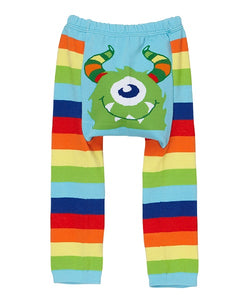 Doodle Pants - Rainbow Monster Cotton Leggings